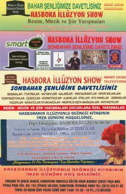 hasbora ill�zyon g�sterileri - ill�zyon g�sterisi, ill�zyon show, ill�zyon malzemesi, ill�zyon kursu, ill�zyon kitabI, �aka malzeme