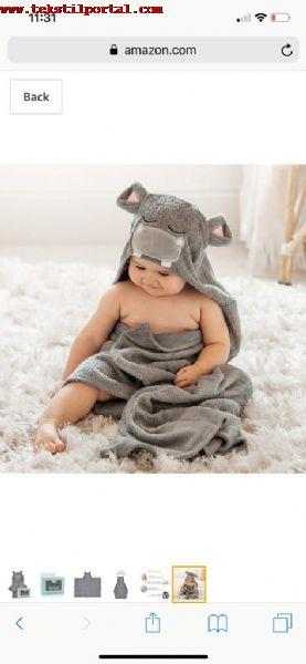 Amerikadan ÇOCUK BORNOZ VE ÇOCUK PEŞTEMALI TALEBİ<br><br>Türkiyede Bebek havluları Bebek peştemalları, Bebek bornozları, Bebek banyo takımı üreticilerinin dikkatine<br><br> Biz Amerika'da New Jersey'de yasiyoruz.<br>Amazon da satici olarak basladik. Bebek ve koton urunlerle ilgileniyoruz. <br><br>Biz 0 koton cocuk pestamal ve bornozu almak istiyoruz. Urun cesitlerinizi gorebilecegimiz bir siteniz var mi yada urun gaminiz nelerdir?  Sample gonderebilir misiniz? <br><br> Cevabinizi bekliyoruz<br><br><br> Amerika Bebek havluları alıcısı, Amerika Bebek peştemalları müşterisi, Yurt dışı Bebek bornozları müşterisi, İhracat Bebek banyo takımları müşterisi, Bebek bornoz ihracat müşterisi, bebek havlu ihracat müşterileri
