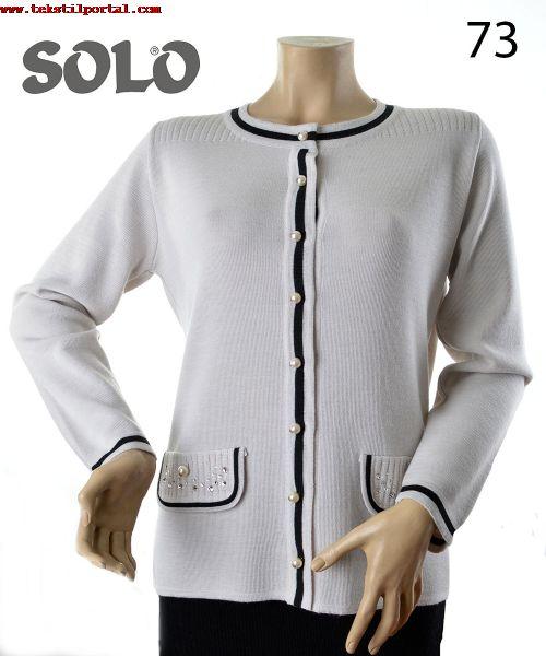 Bayan Triko Giyim imalat�isi, Bayan triko konfeksiyon imalat�isi<br><br>Biz SOLO Biz y�ksek kaliteli Italyan iplikler FOLCO FILIVIVI marka ile �alismak 1982den beri T�rkiyede  bulunan adinda kadin giyim �reticisi; Swarovski kristalleri ve inci ile birlikte ipek,  kasmir,  merinos y�n�,   pamuk ve kombinasyonlari. Bizim �r�n yelpazesi bayan kazak, bayan hirka, bayan bluz,  triko ceket,  ikiz seti, bayan triko elbise,  triko kazaklar,  bayan kazak,  bayan triko konfeksiyon kadin giysileri. Biz Rus Japon,  Isvi�re,  Ingiltere,  su anda �alismak Almanya markalar Referans  edebilirsiniz. Biz istek i�in mevcut �r�n ve �rnek sunmak ve birlikte �alisma olanaklari yaratmak i�in mutlu  olacak. Shima Seiki 122 SSG 14gg,  234 S 12gg,  234 S 10gg ile �alisma. Model tasarimlari �ok yetenekli  el sanatlari kadinlar tarafindan 100 el yapimi<br>