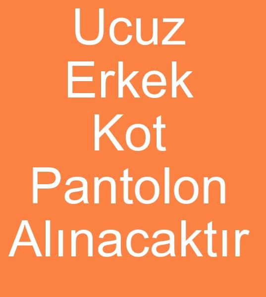 200 - 300  Adet ERKEK KOT PANTOLON ALINACAKTIR<br><br>Perakende satýþ maðazam için Tekleme sepetlik kot pantolon ve Seri Kot pantolon almak istiyorum<br><br>Aradýðým fiyat aralýðý  10 tl 25 tl arasýdýr,  <br>Erkek kot pantolonlarý satýn almam ortalama 200 -  300 adetlik partiler halinde olmaktadýr
