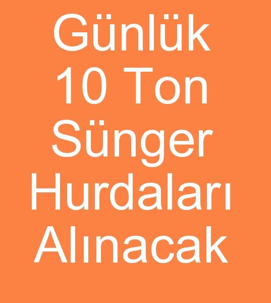 Günlük 10 Ton SÜNGER HURDASI ARIYORUZ<br><br>Kayserideki sünger ürünleri geri dönüþüm tesisimiz için Günlük 10 Ton Sünger hurdalarý arýyoruz<br><br><br>Hurda sünger alýcýsý, Hurda sünger alanlar, hurda sünger arayanlar, Hurda sünger kullanýcýsý, sünger hurdasý alýcýsý, Hurda sünger alanlar, Sünger hurdalarý alýcýsý, Sünger hurdalarý arayanlar
