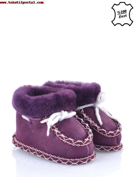 Real leather baby booties will be sold <br><br>