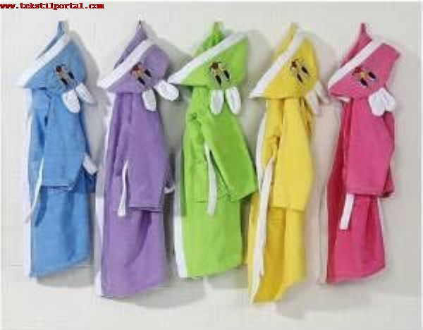We are manufacturer of Children's bathrobes in Denizli  <br><br>We manufacture children's bathrobes, wholesale children's bathrobes and export children's bathrobes in Denizli<br><br>For your order, we can also produce children's bathrobes with your brands and models.<br>Children's Bathrobe production factory in denizli, Children's Bathrobe Suit Production Factory