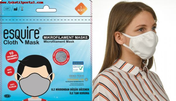 MEDICAL TEXTILE FROM PRODUCER,  ESQUÝRE MICROFILAMENT MASK for FACE<br><br>THE MEDÝCALs TEXTILE MANUFACTURER<br>