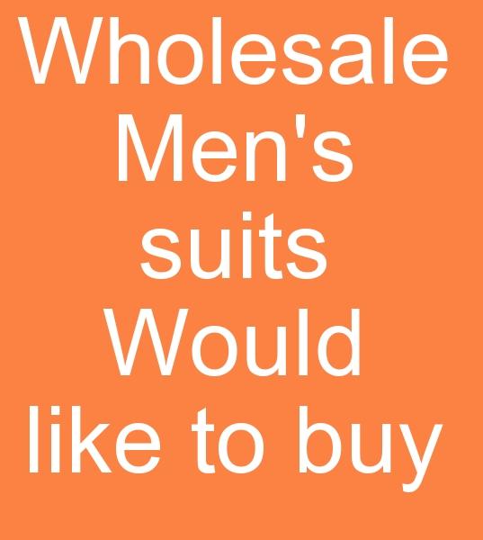 Güney Afrihadan ERKEK TAKIM ELBİSELERİ SATIN ALMA TALEBİ<br><br>Güney Afrikada yeni açılacak butik için Toptan erkek takım elbisleri alınacaktır<br><br> Im looking for a cheap mens suit supplier . Im in South africa trying to start a business- mens boutique