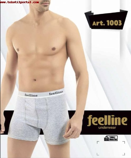 Our company produces Felline brand Boxer shorts<br><br>Our Feelline male boxer is very high quality, lycra and has 3 color options;
